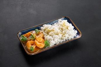 Рис с тигровыми креветками