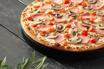 Пицца «Амстердам» на тонком тесте