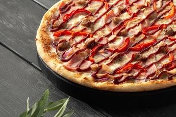 Пицца «Барбекю» на тонком тесте 30 см
