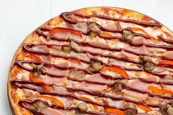 Пицца «Барбекю» на тонком тесте