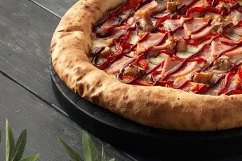 Пицца «Барбекю» с сырным бортом 30 см