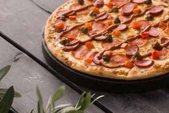 Пицца «Бавария» на тонком тесте 30 см