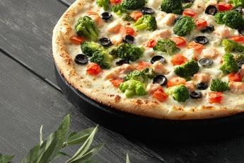Пицца «Берген» на тонком тесте 30 см