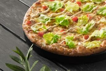 Пицца «Цезарь» на тонком тесте 30 см
