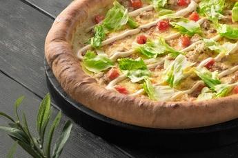Пицца «Цезарь» с сырным бортом 30 см