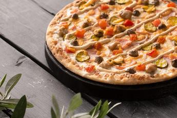 Пицца «Чизбургер» на тонком тесте 30 см