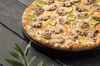 Пицца «Грибная» на тонком тесте 30 см