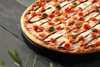 Пицца «Капрезе» на тонком тесте 30 см