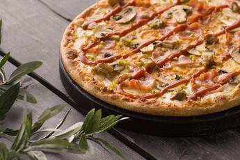 Пицца «Сарагоса» на тонком тесте 30 см