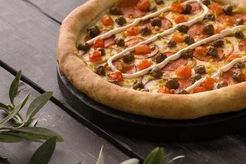 Пицца «Сардиния» с сырным бортом 30 см