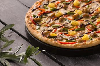 Пицца «Терияки» на тонком тесте 30 см