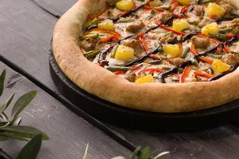 Пицца «Терияки» с сырным бортом 30 см