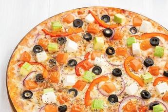 Пицца «Вегетарианская» на тонком тесте