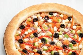 Пицца «Вегетарианская» с сырным бортом