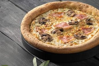 Пицца «Ветчина и грибы» 24 см