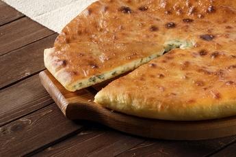 Осетинский пирог сыр и свекольные листья
